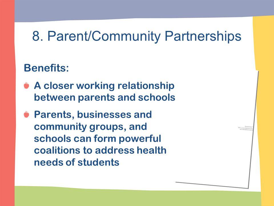 8. Parent/Community Partnerships