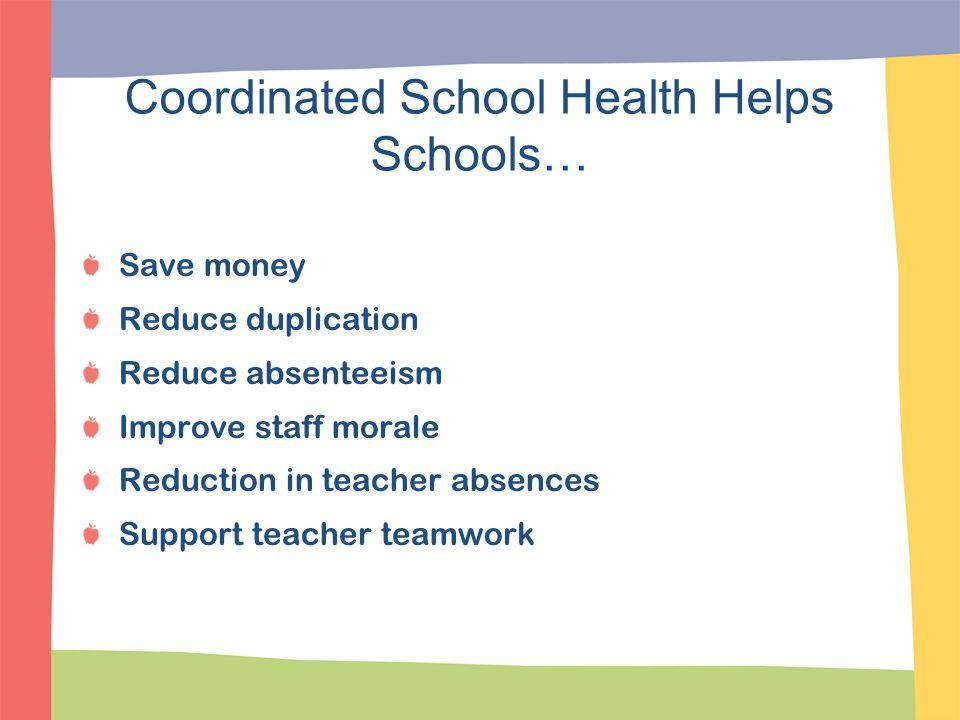 Coordinated School Health Helps Schools…