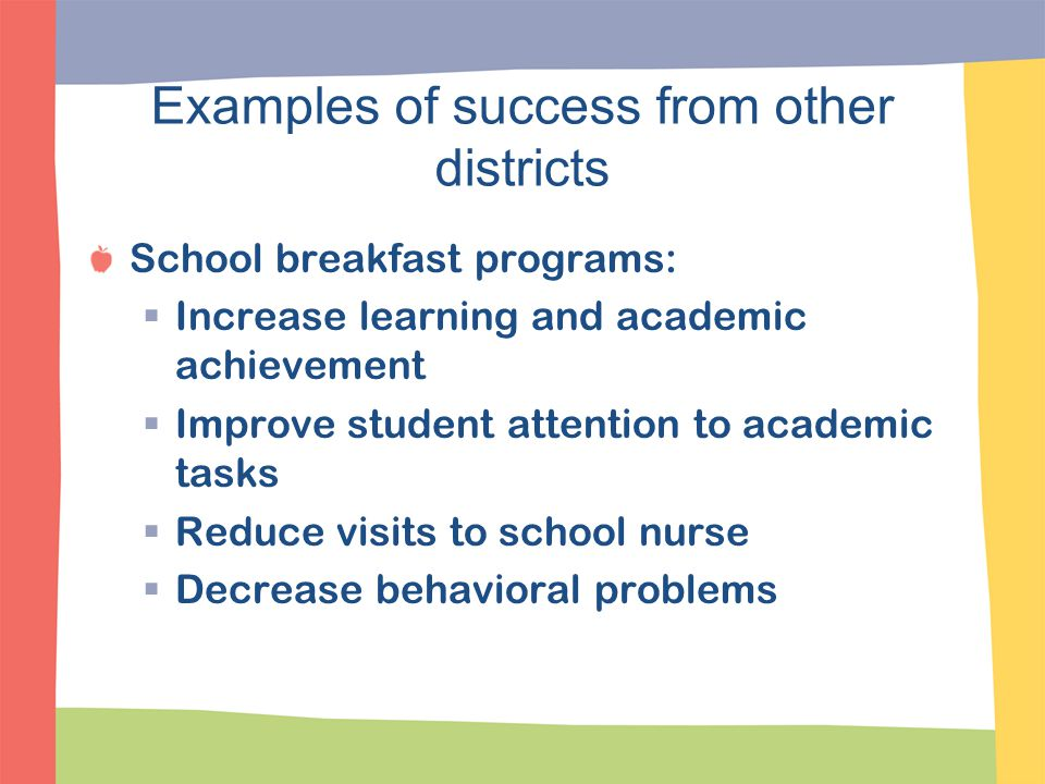 Examples of success from other districts