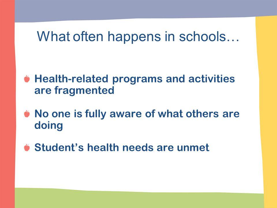 What often happens in schools…