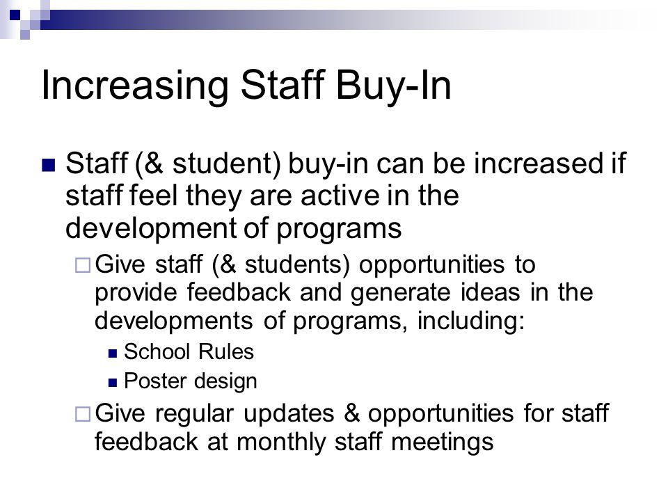Increasing Staff Buy-In