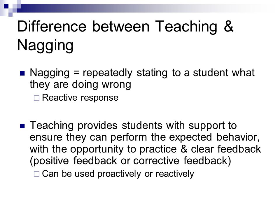 Difference between Teaching & Nagging