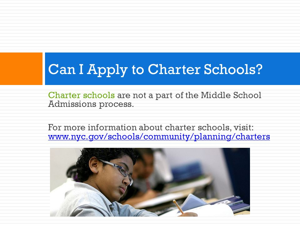 Can I Apply to Charter Schools