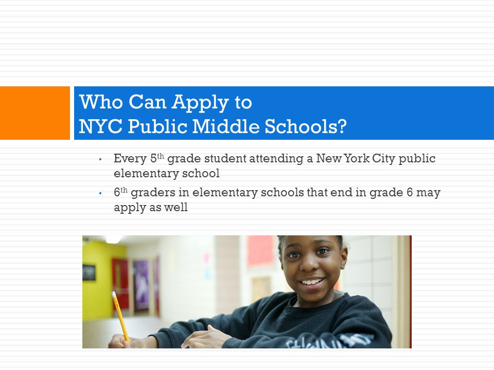 Who Can Apply to NYC Public Middle Schools