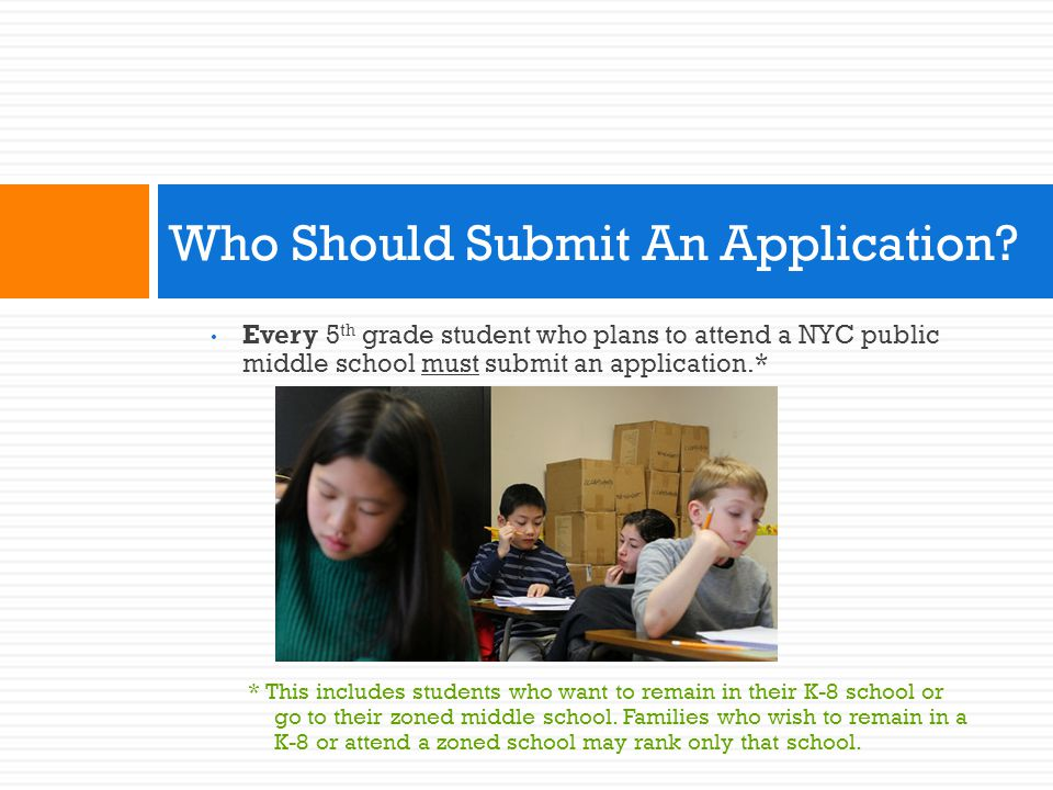 Who Should Submit An Application