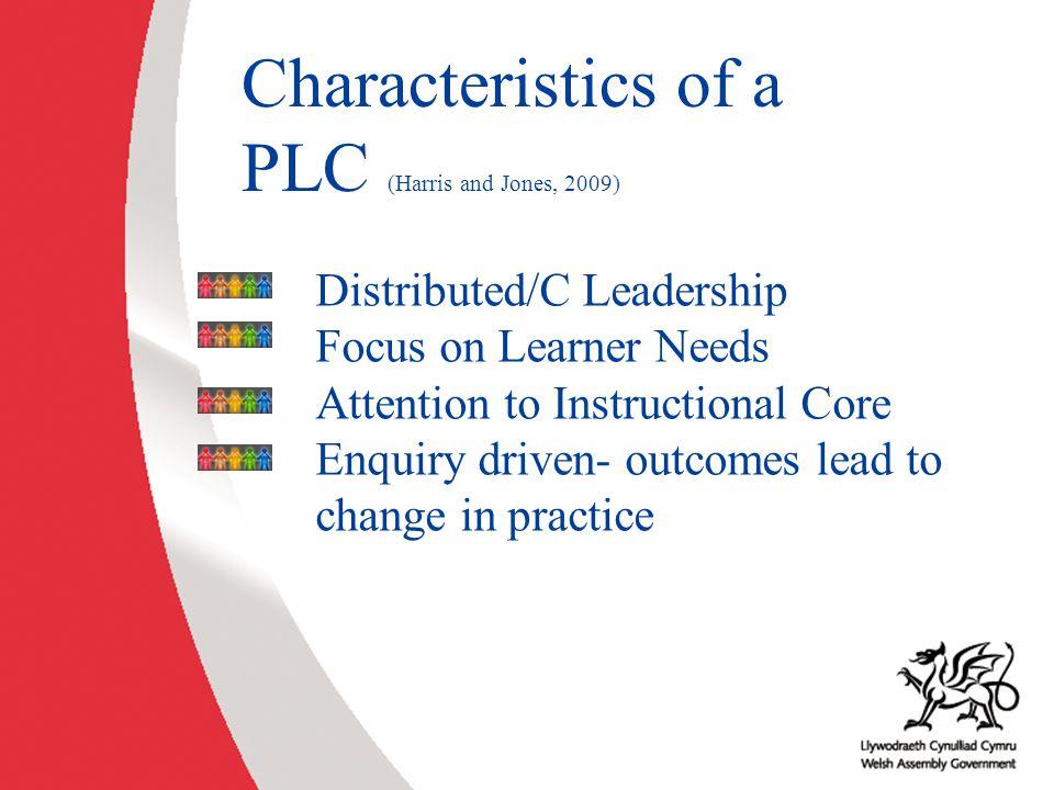 Characteristics of a PLC (Harris and Jones, 2009)