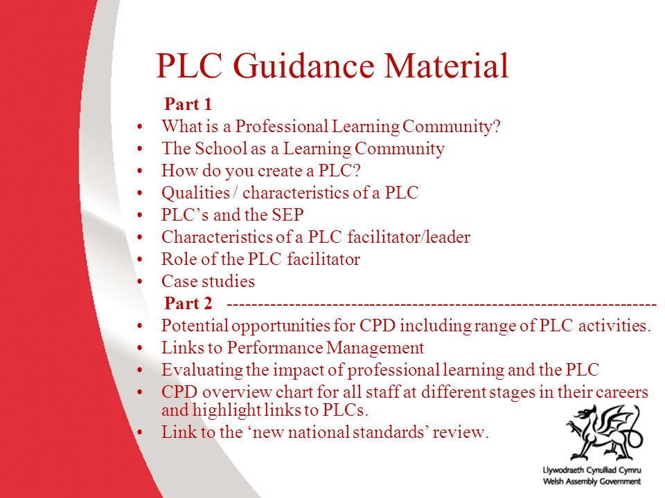 PLC Guidance Material Part 1