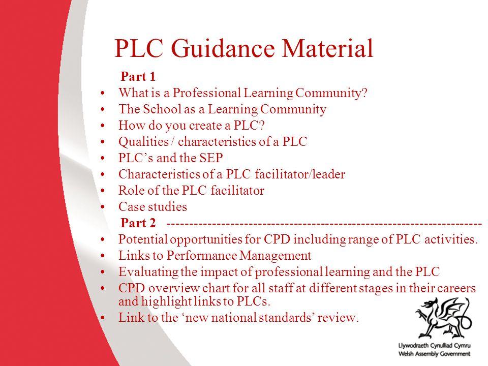 PLC Guidance Material Part 1