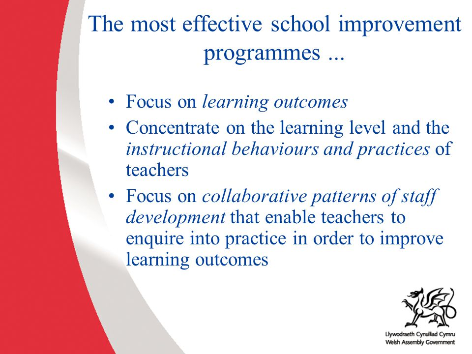 The most effective school improvement programmes ...