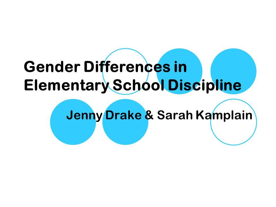 Gender Differences in Elementary School Discipline