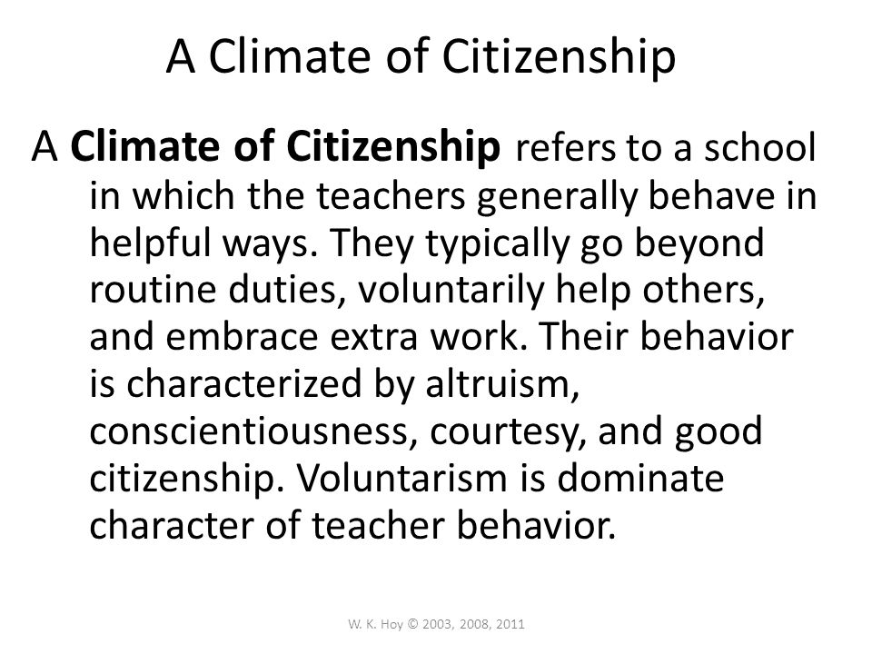 A Climate of Citizenship