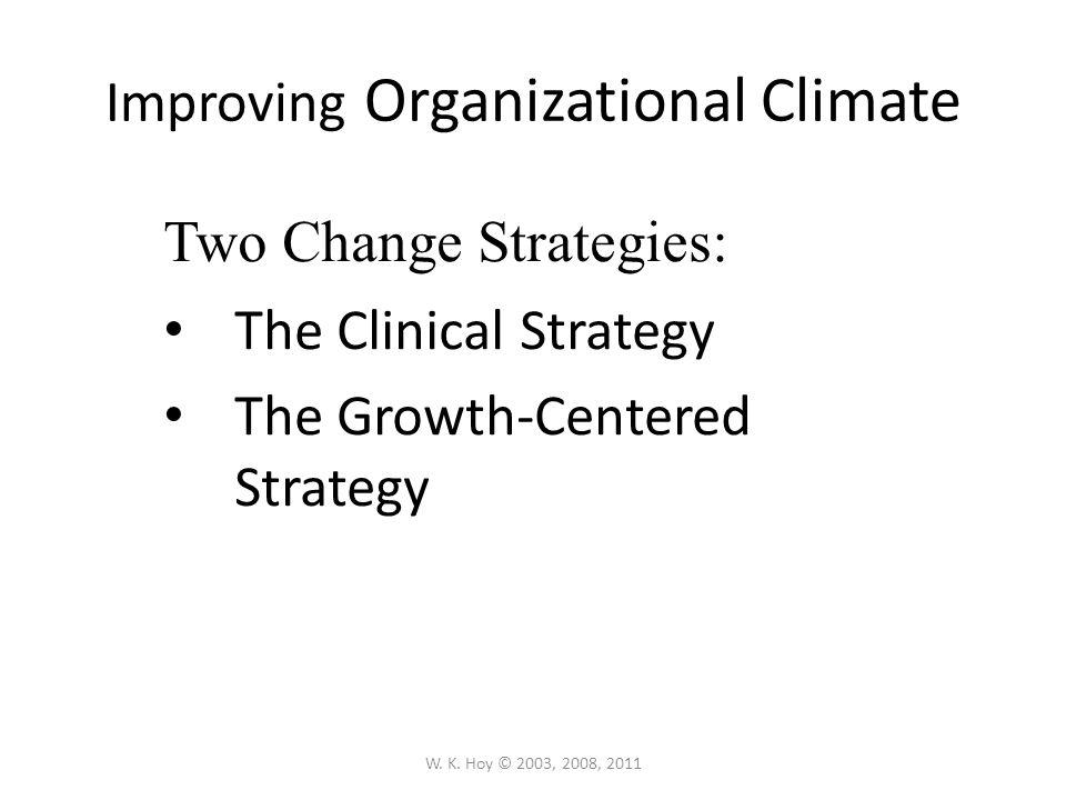 Improving Organizational Climate