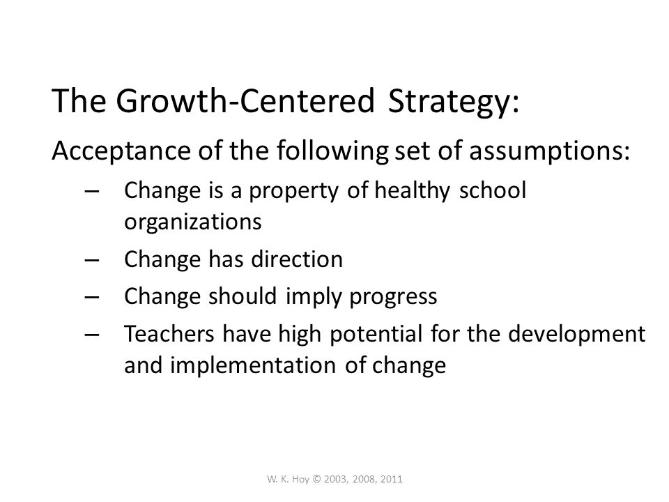 The Growth-Centered Strategy:
