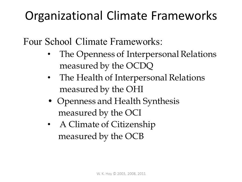 Organizational Climate Frameworks
