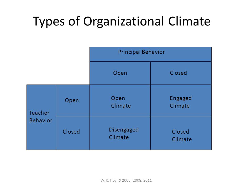 Types of Organizational Climate