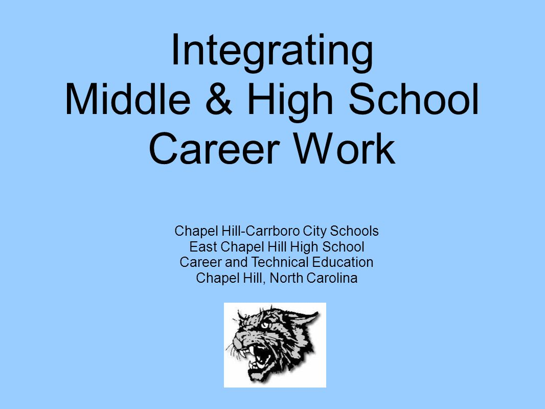 Integrating Middle & High School Career Work