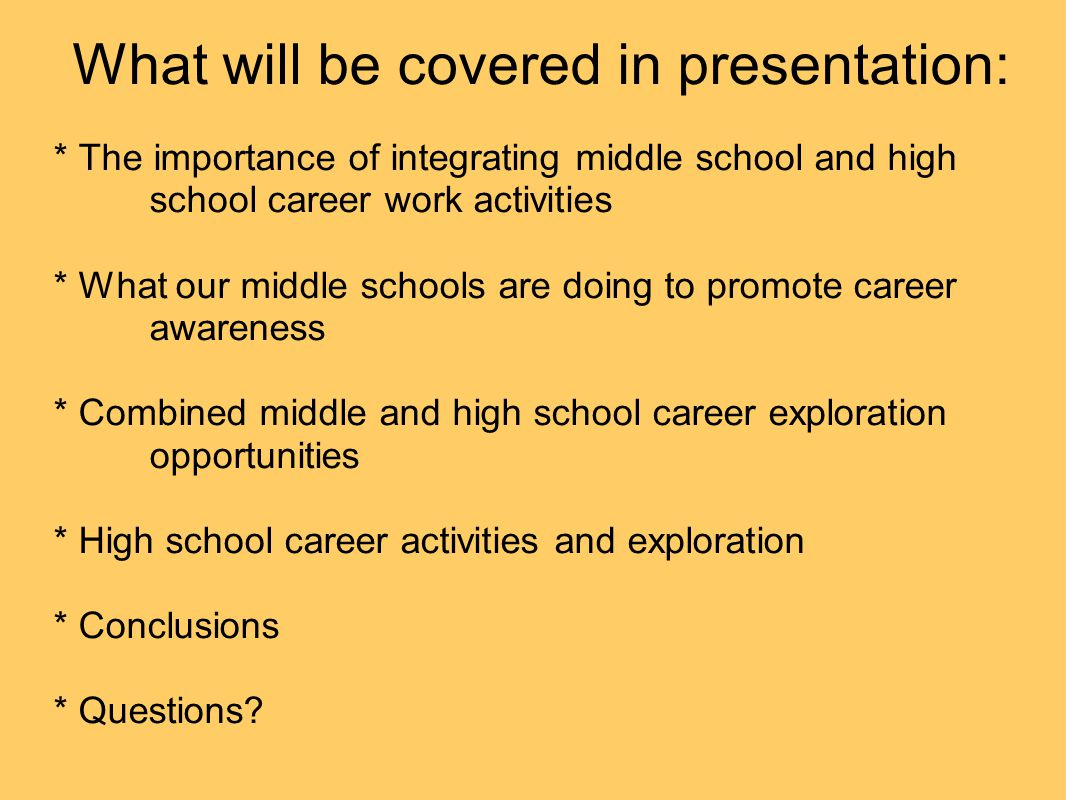 What will be covered in presentation: