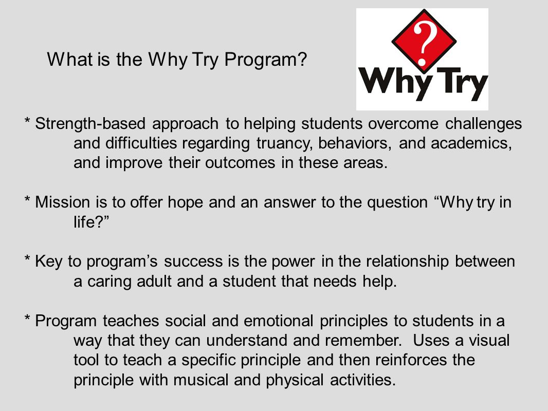What is the Why Try Program