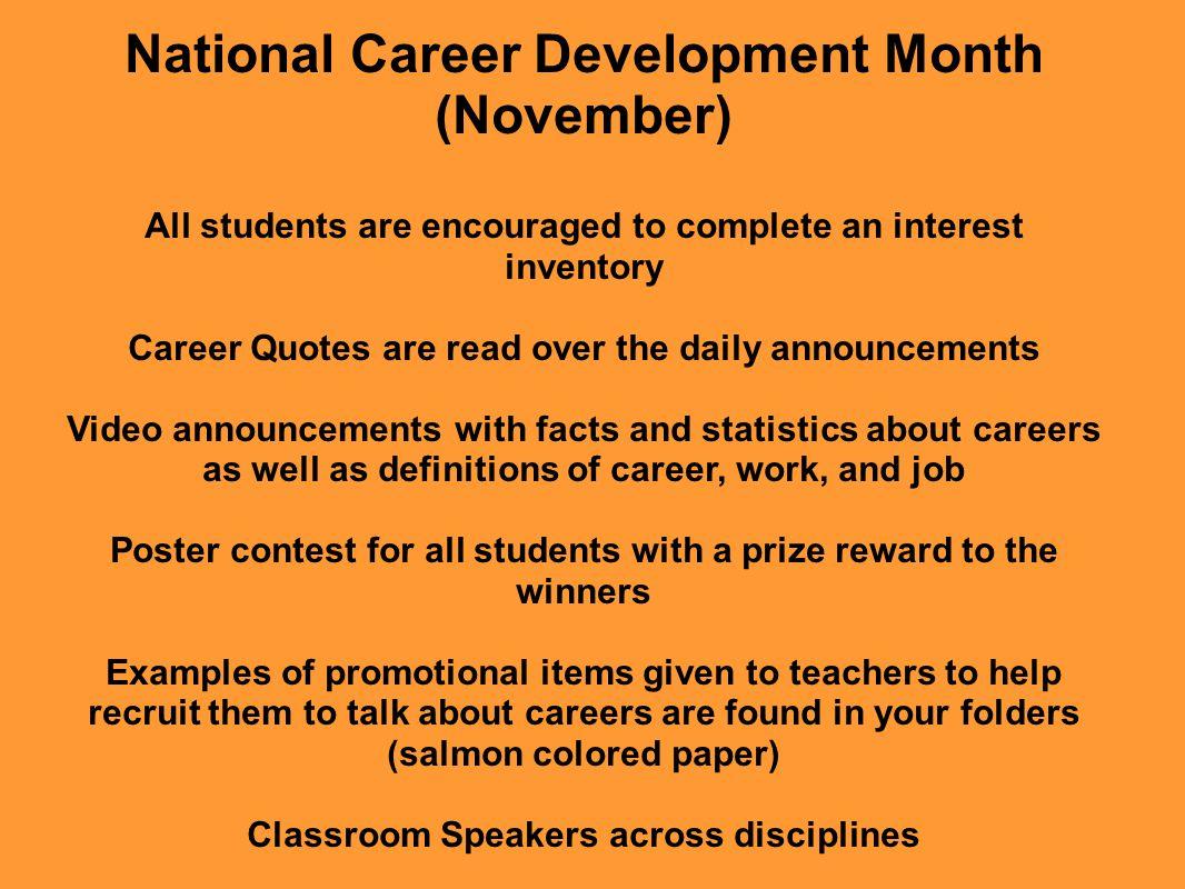 National Career Development Month (November)