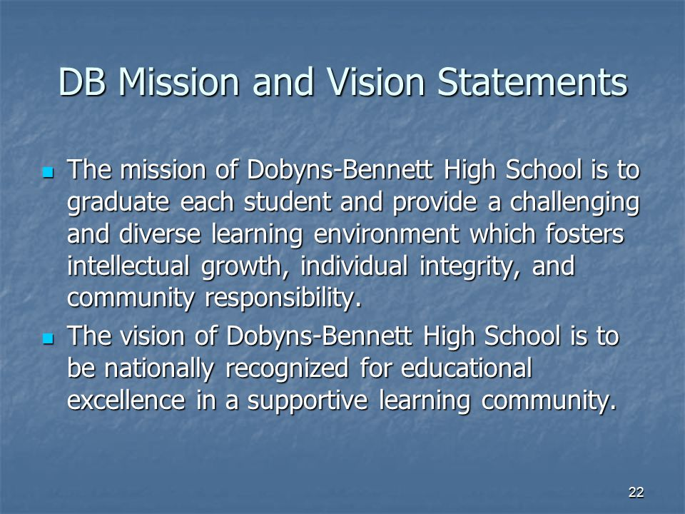 DB Mission and Vision Statements
