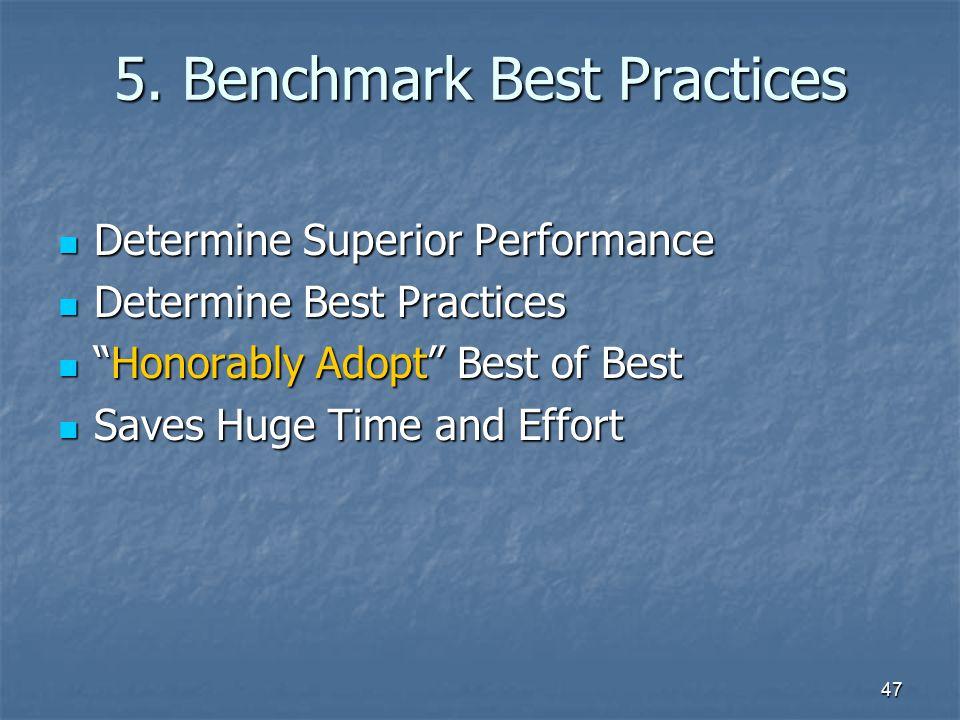5. Benchmark Best Practices