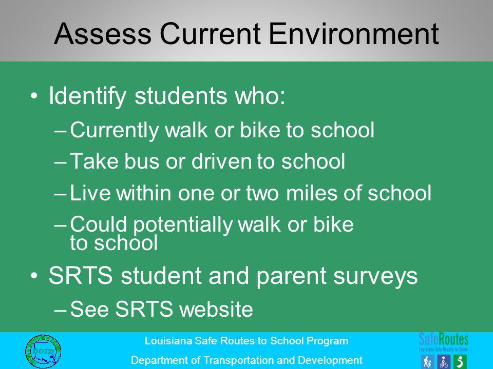 Assess Current Environment