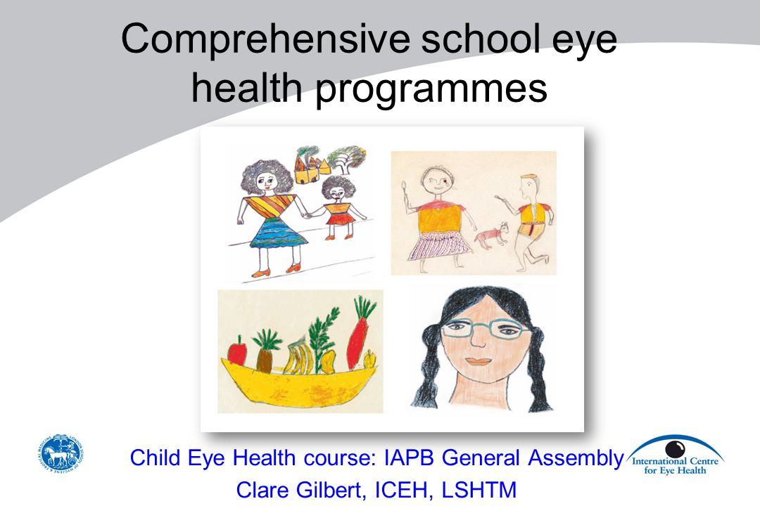 Comprehensive school eye health programmes