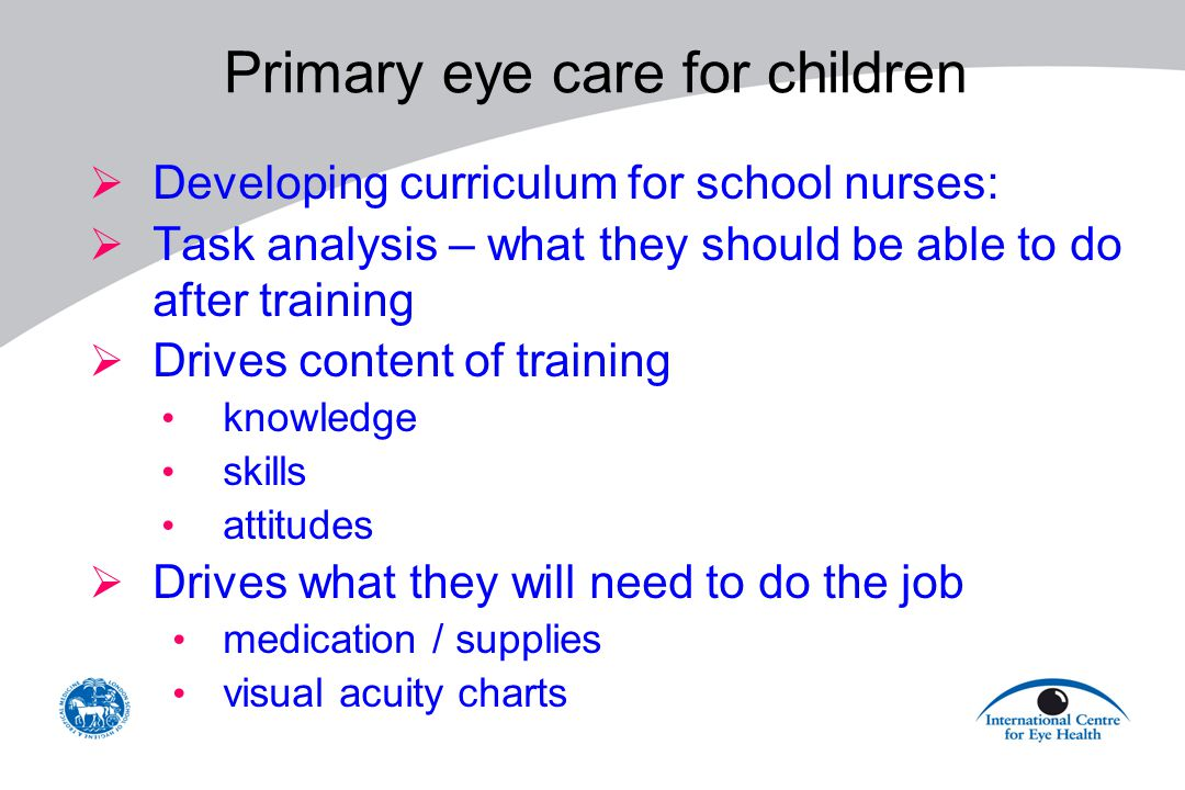 Primary eye care for children