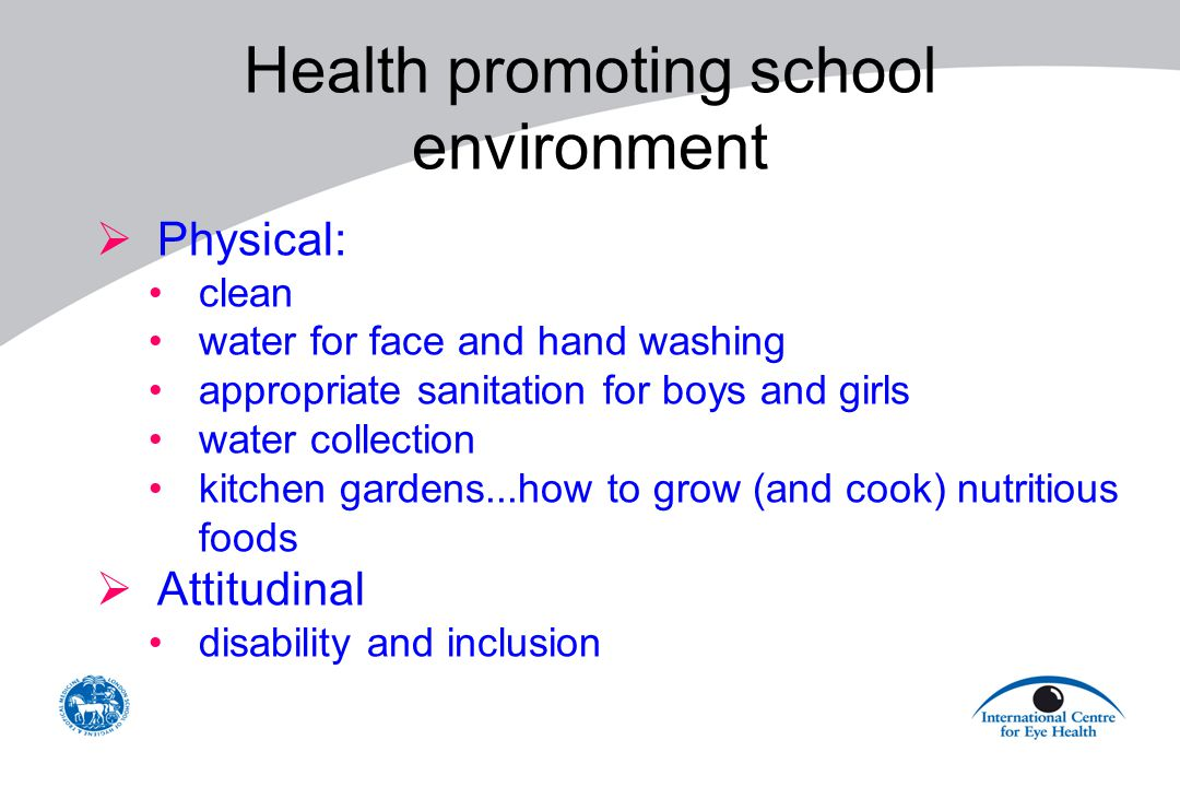 Health promoting school environment