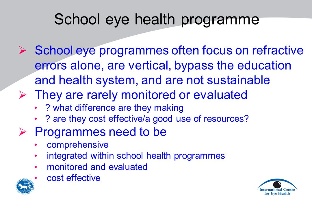 School eye health programme