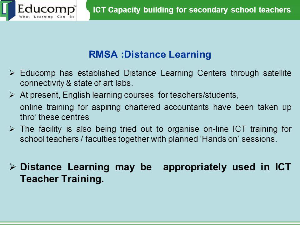 RMSA :Distance Learning