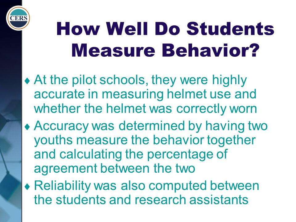 How Well Do Students Measure Behavior