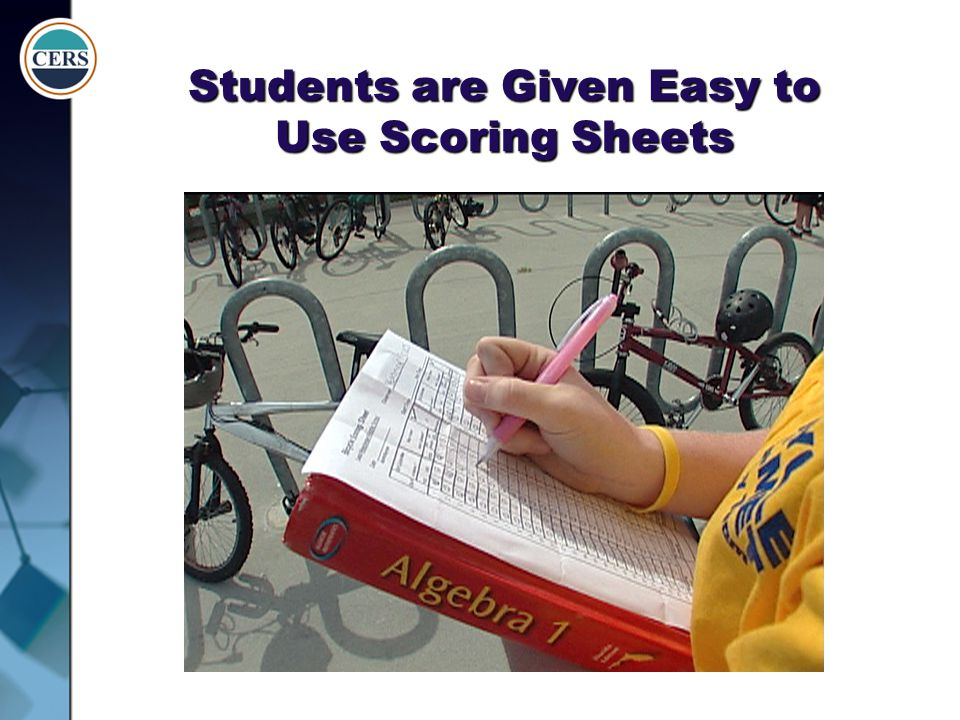 Students are Given Easy to Use Scoring Sheets
