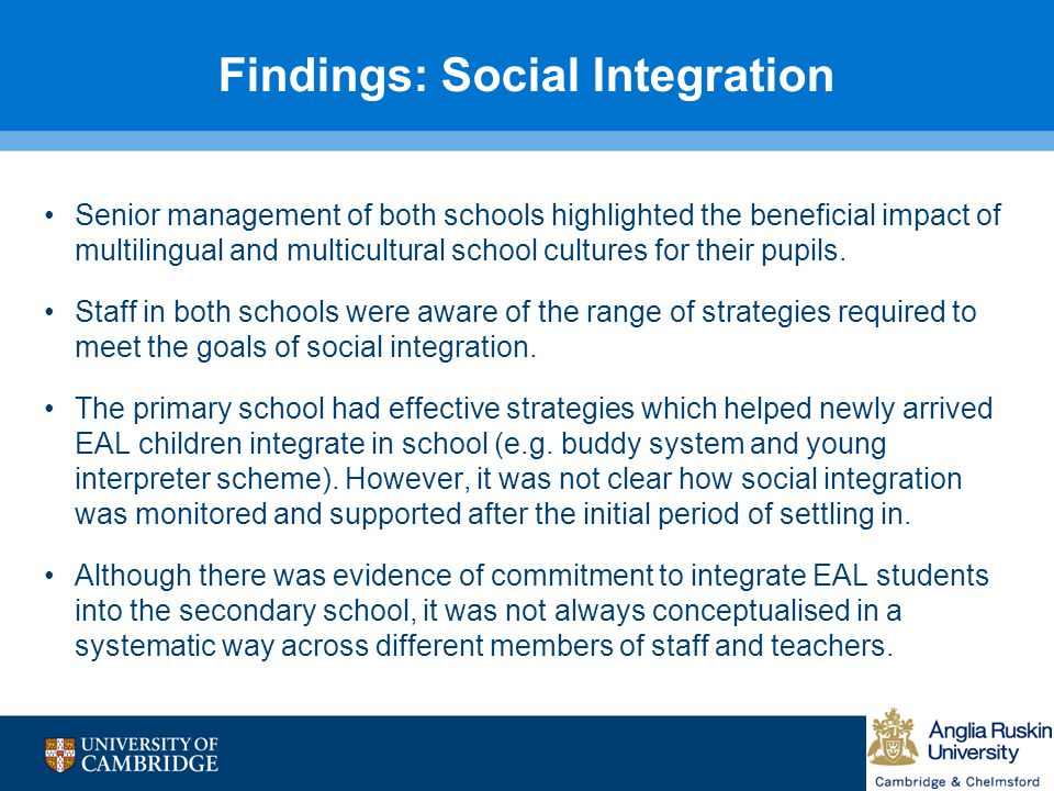Findings: Social Integration