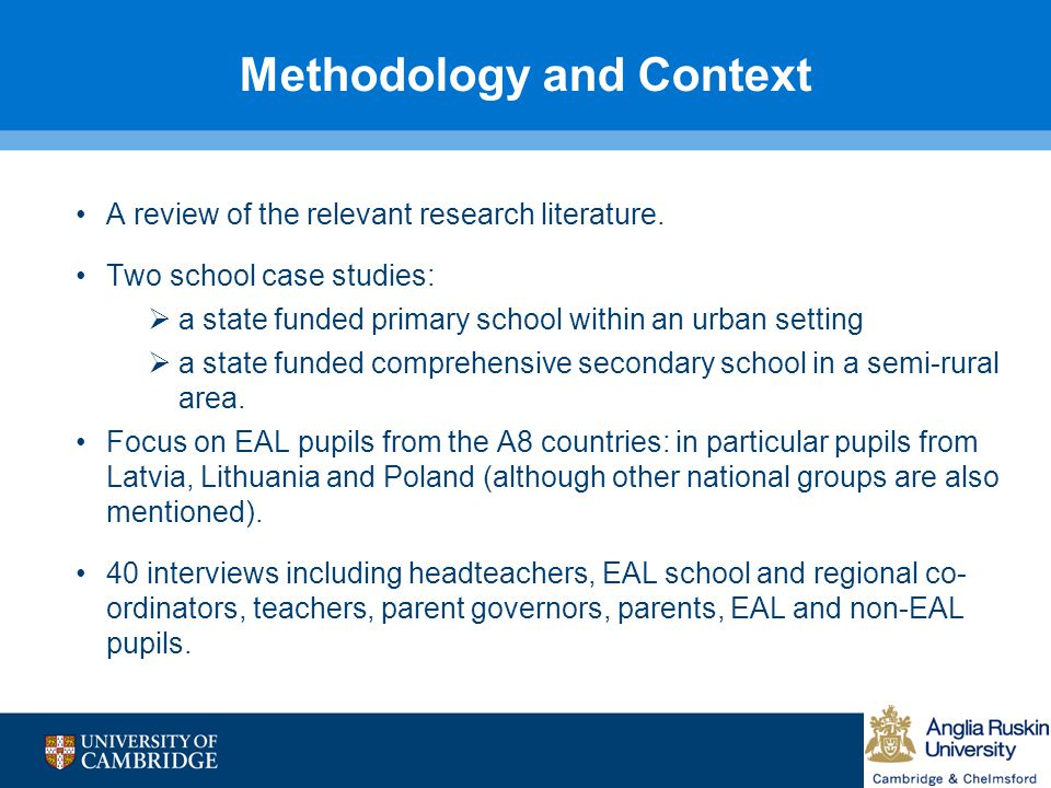Methodology and Context
