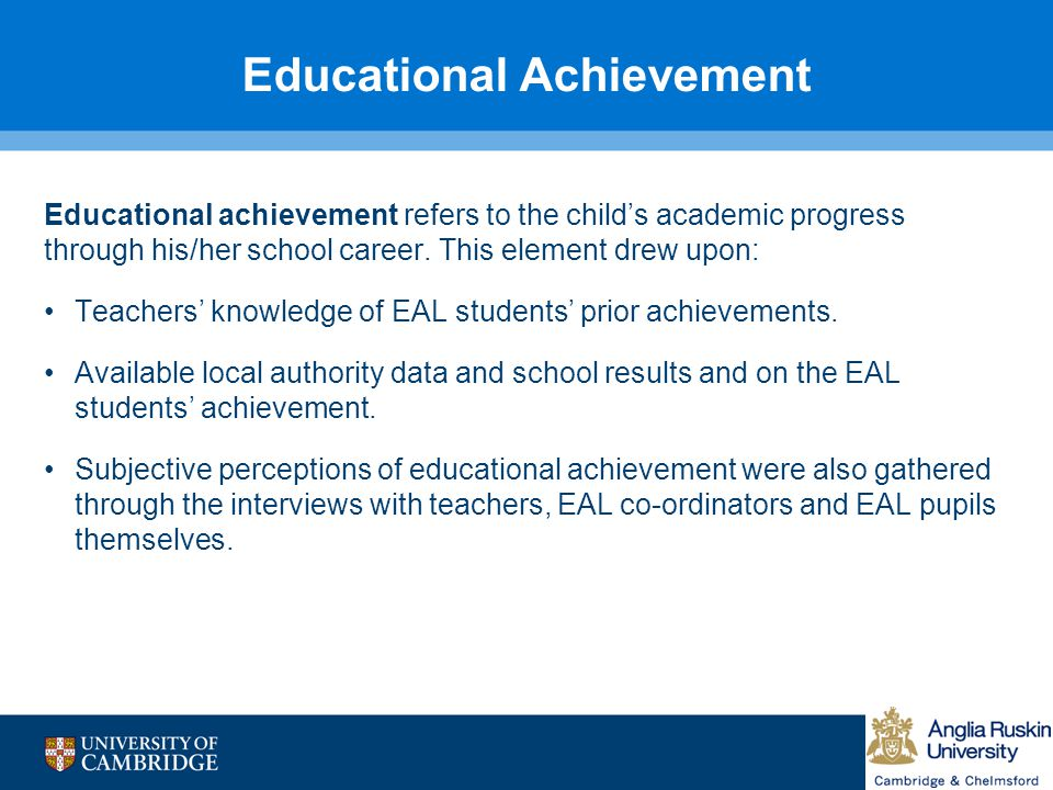 Educational Achievement