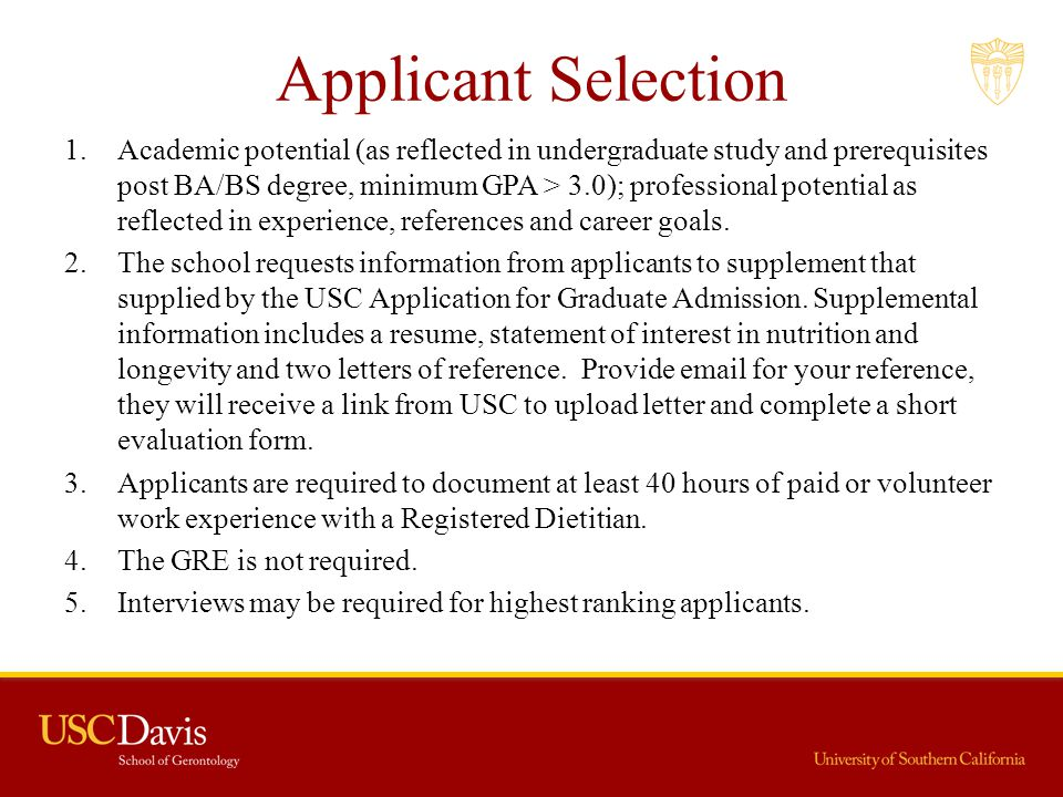Applicant Selection