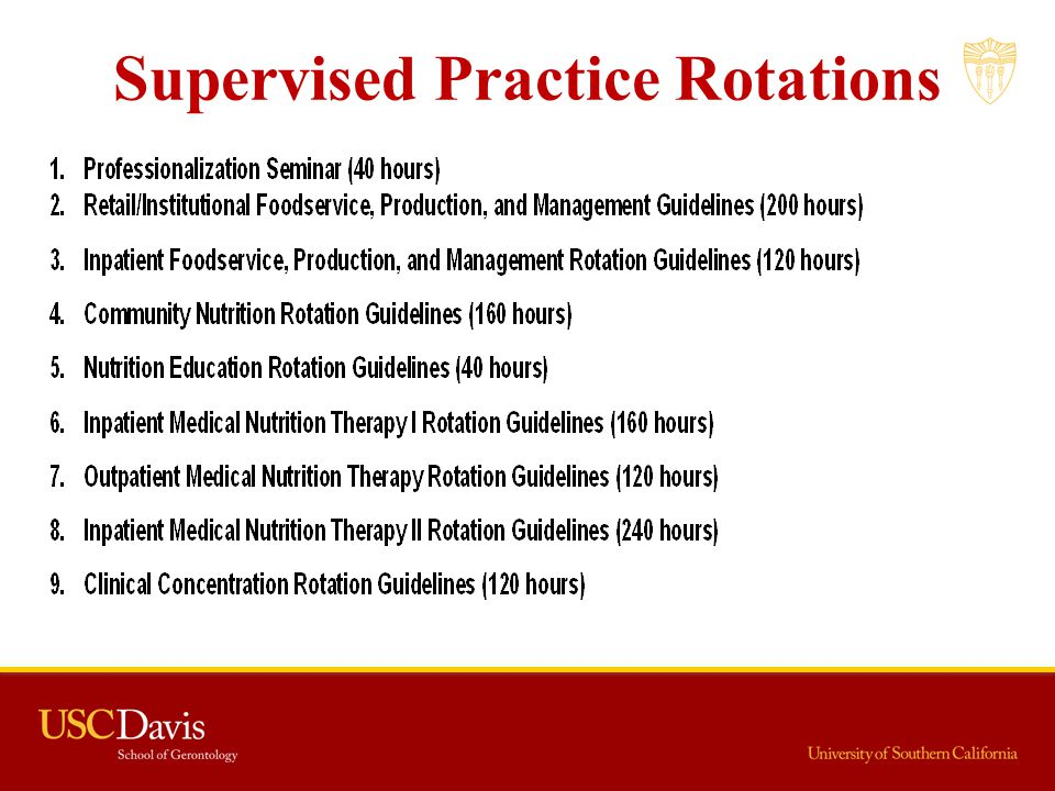 Supervised Practice Rotations
