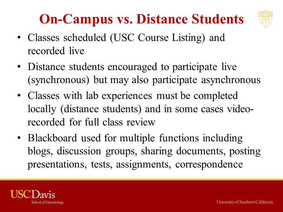 On-Campus vs. Distance Students