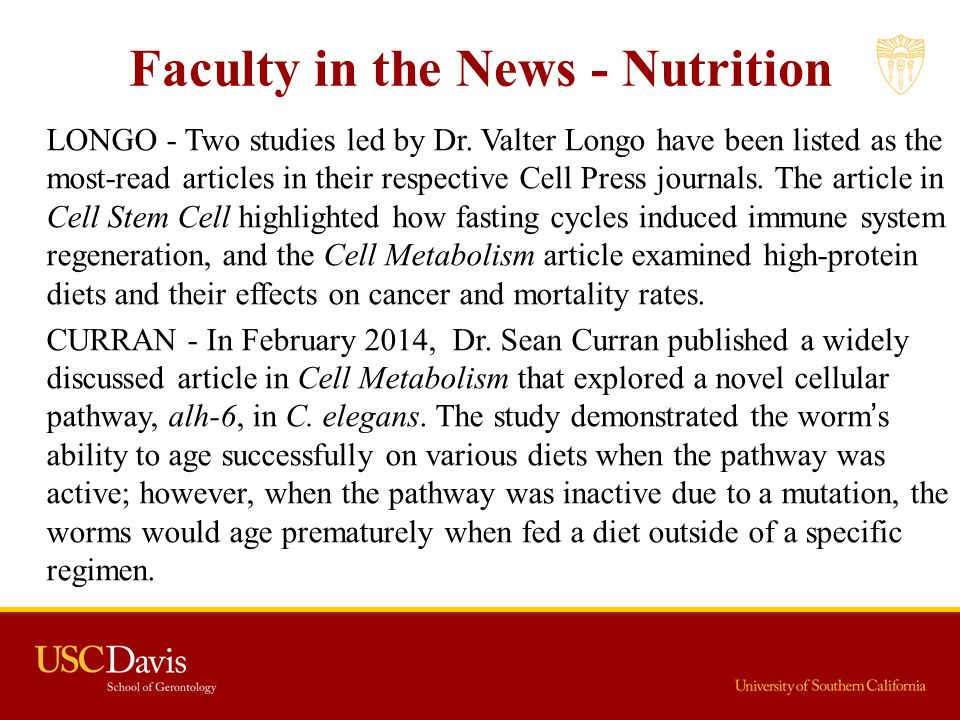 Faculty in the News - Nutrition