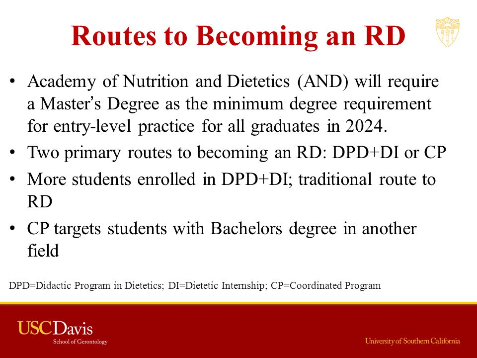 Routes to Becoming an RD