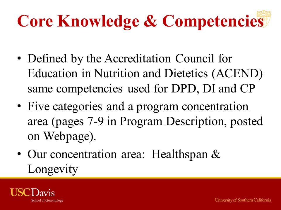 Core Knowledge & Competencies