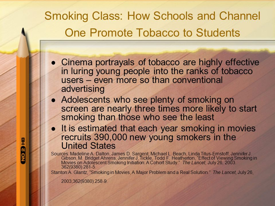 Smoking Class: How Schools and Channel One Promote Tobacco to Students