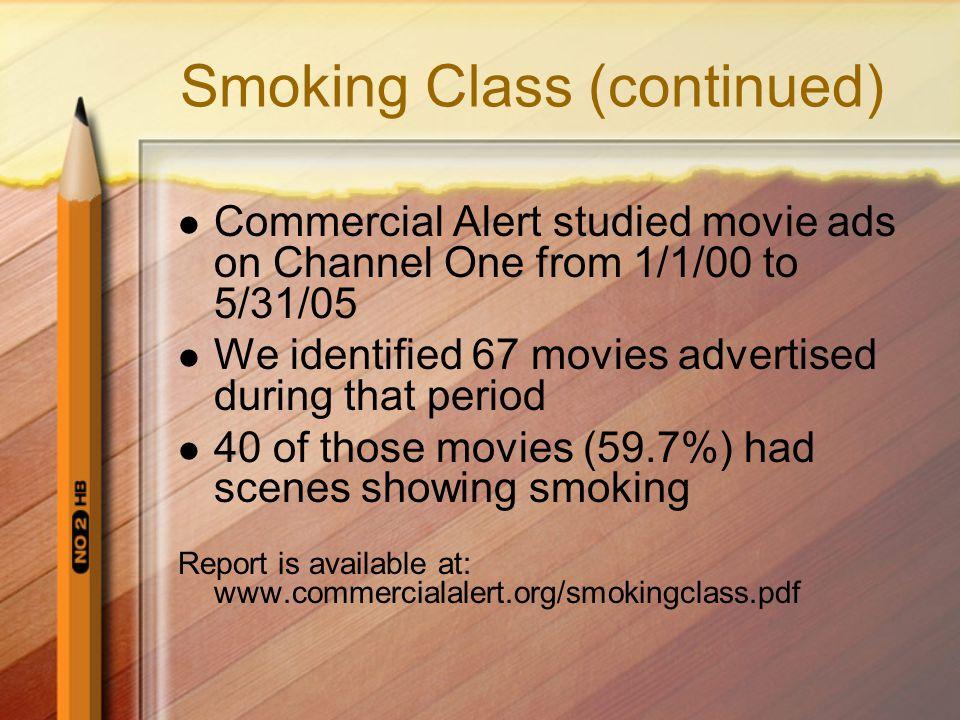 Smoking Class (continued)
