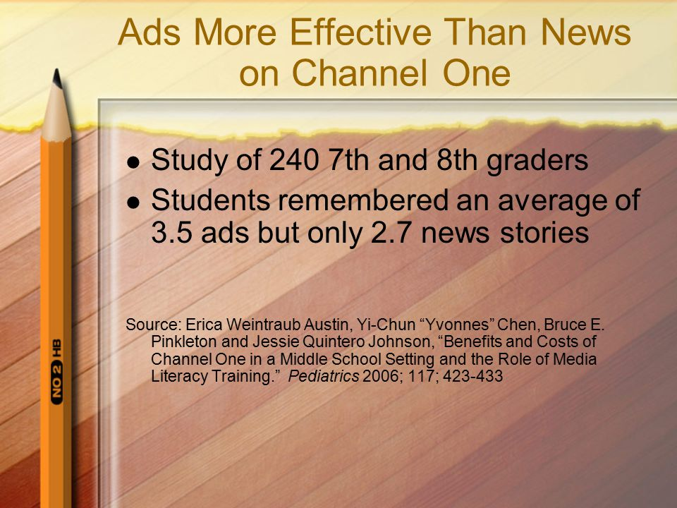 Ads More Effective Than News on Channel One