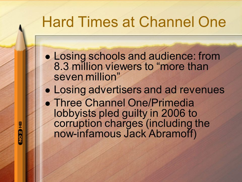 Hard Times at Channel One