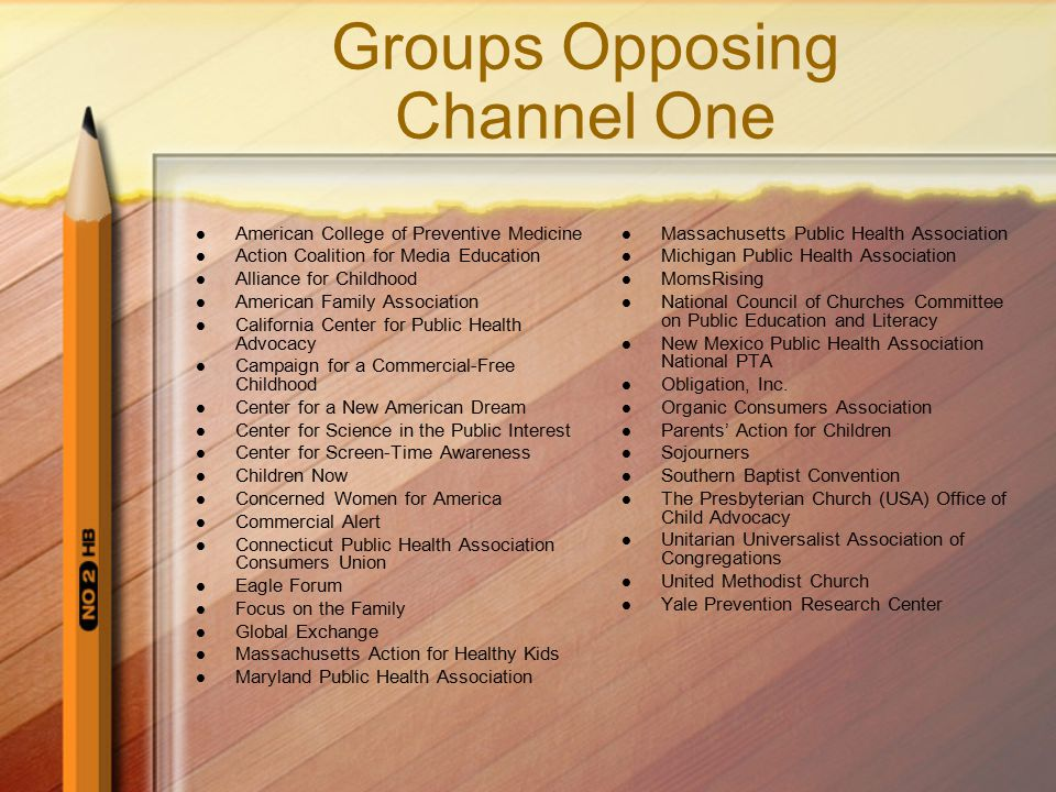Groups Opposing Channel One