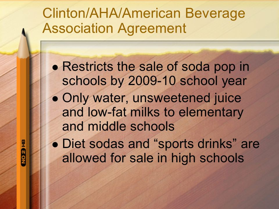 Clinton/AHA/American Beverage Association Agreement