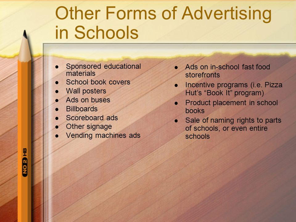 Other Forms of Advertising in Schools