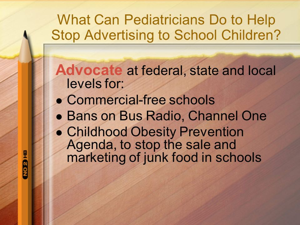 What Can Pediatricians Do to Help Stop Advertising to School Children